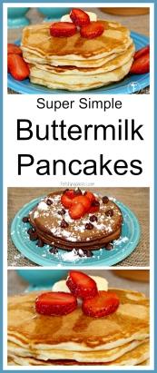 Super Simple Buttermilk Pancakes