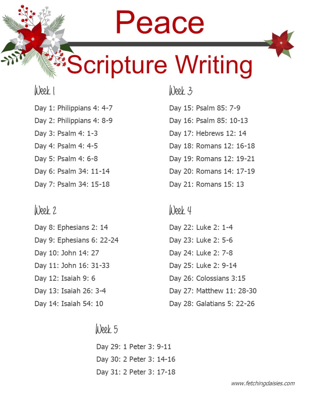 december 2018 Scripture Writing fd